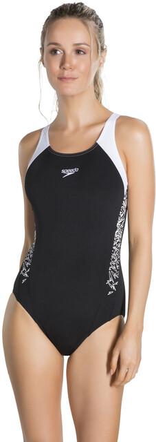 speedo Boom Splice Muscleback Swimsuit Women blackwhite